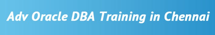 Advanced Oracle DBA Training in Chennai