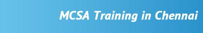 MCSA Training in Chennai