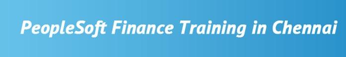 PeopleSoft Finance Training in Chennai
