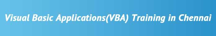 VBA (Visual Basic Application) Training in Chennai
