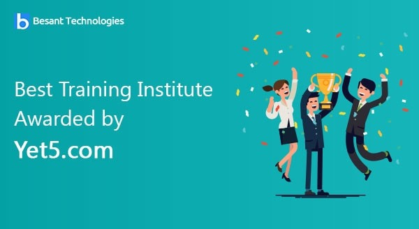 Best Training Institute Awarded by Yet5.com