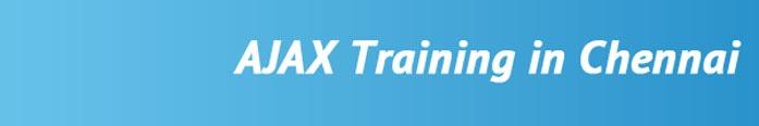 AJAX Training in Chennai