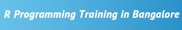 R Programming Training in Bangalore