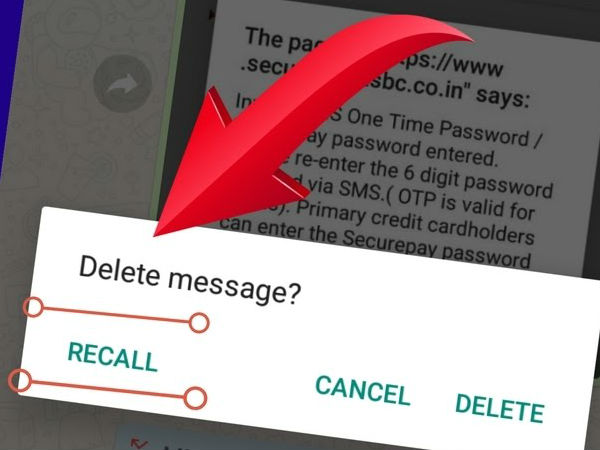 How to delete a delivered message in Whatsapp? - Besant Technologies