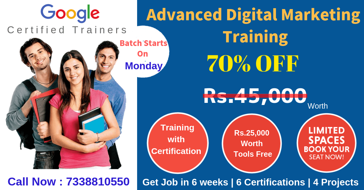 Advanced Digital Marketing Training In Chennai 70 Off 100 Job