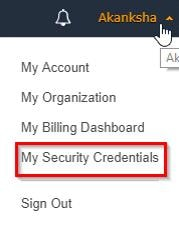 To Change Password in AWS