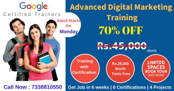 Advanced Digital Marketing Training in Chennai | 70% OFF | 100% JOB