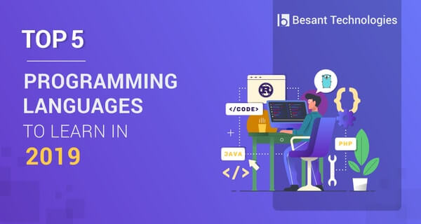 top 5 programming languages to learn in 2019