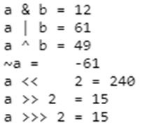 Bitwise Operator Output