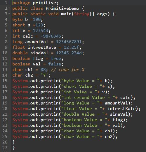 Data Types Programs