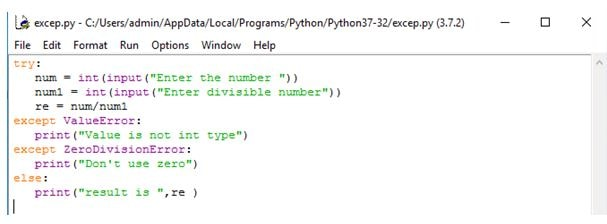 Exception Handling Example-1