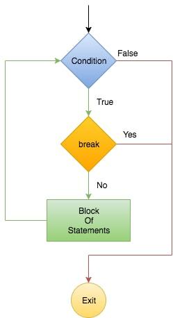 Flowchart of Break Statement in Python