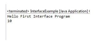 Interface in java example