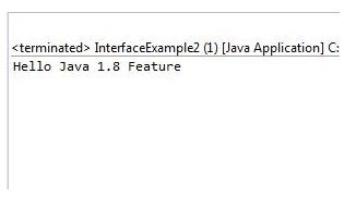 Java Interface Features Example