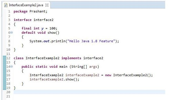 Java Interface Features