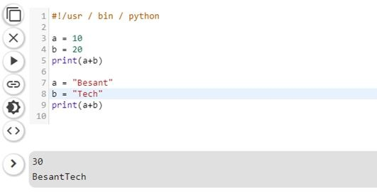 Plus Operator Work With Variables