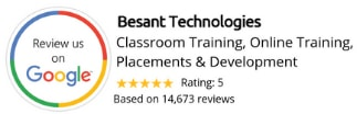 Besant Technologies Google Review