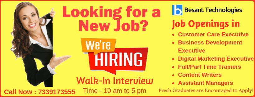 Careers at Besant Technologies | Job Openings in Besant