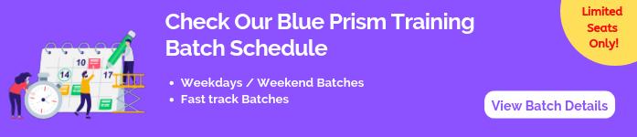 Blue Prism Training Batch Shedule