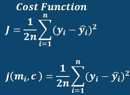 Linear Regression Cost Functions