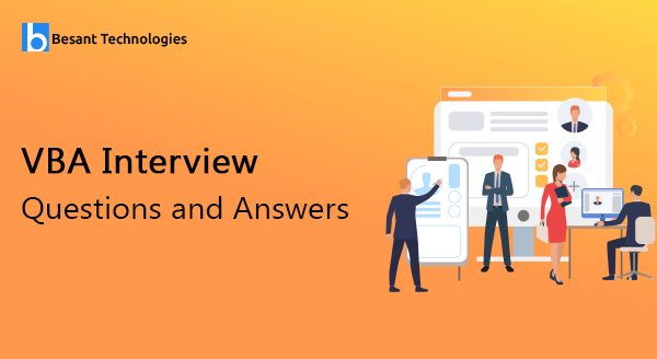 VBA Interview Questions and Answers