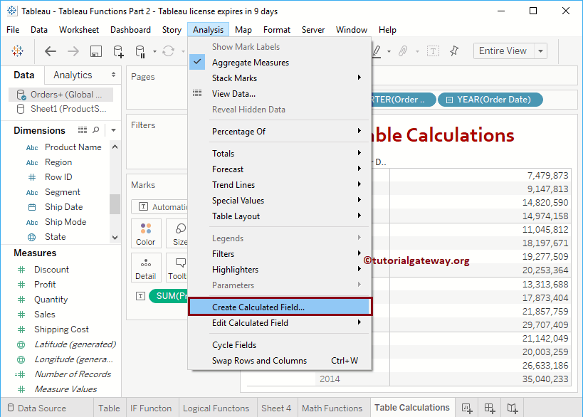 Create a Calculated Field