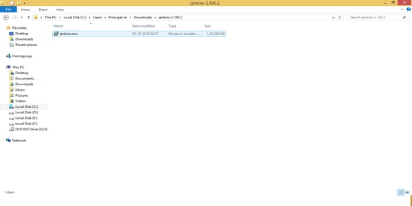 Download zip file by clicking windows option