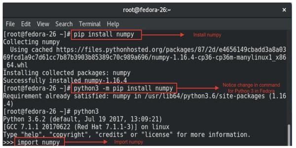 Fedora od for python3