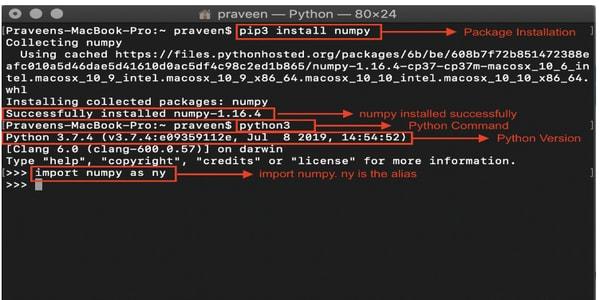 NumPy Installation on Mac Procedure