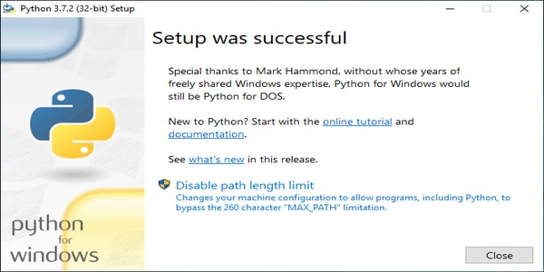 Verify if Python was Successfully Installed or Not