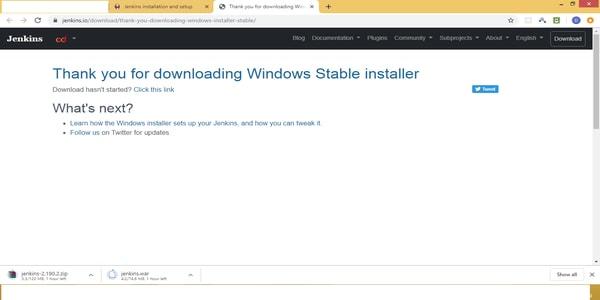 Windows Stable Installler