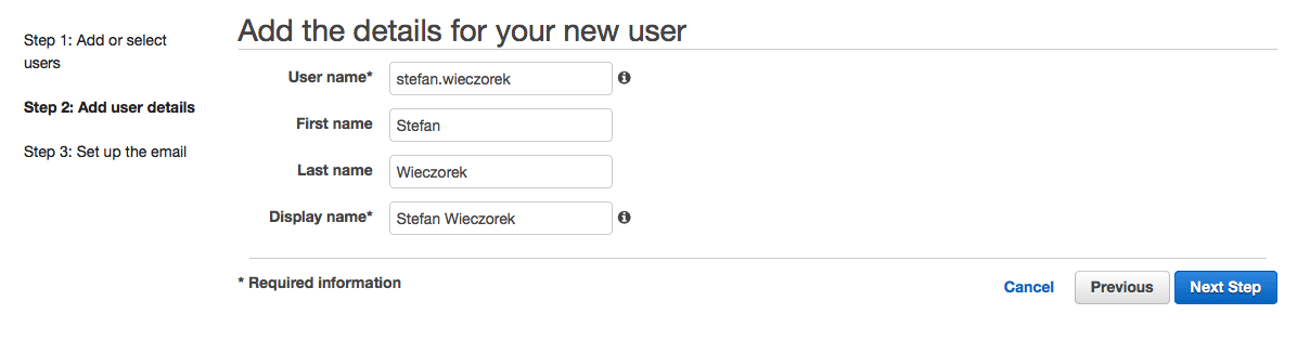Add User Accounts