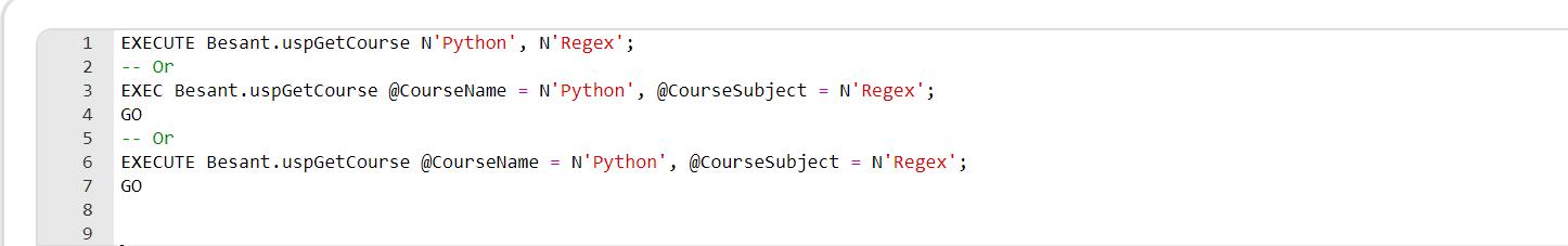 Exec Command in SQL