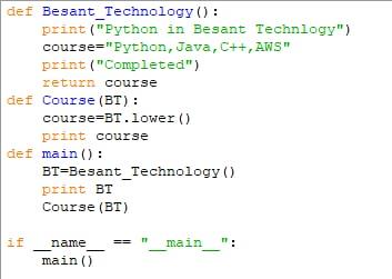 Python Excustion Method