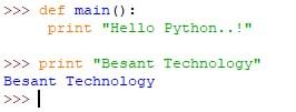 Python Main Function Output