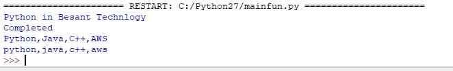 Python Main Output