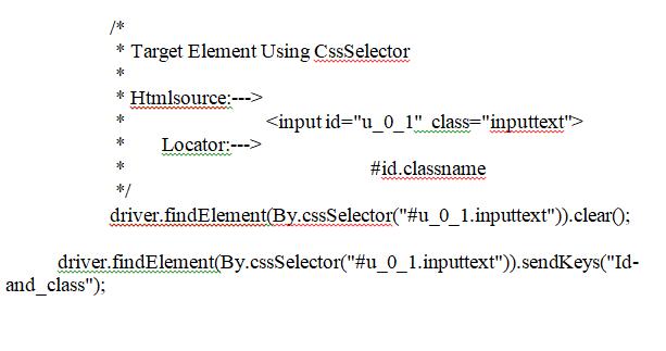 Using CSS Selectors Continue