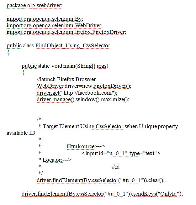Using CSS Selectors