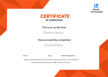 Besant Technologies Certificate